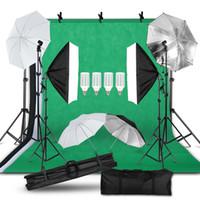 Fotografía Foto Light Studio Kit de 2x3m, fondo Soporte SOPORTE Caja de luz Kit de Iluminación paraguas Luz
