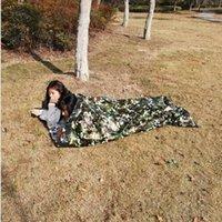 Blanket primeiros socorros de emergência quente ao ar livre Camping Sacos de Dormir Camuflagem Sobrevivência de Emergência Sleeping Bag Mantenha morno impermeável Mylar YSY175-L