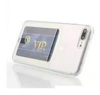 Pour Iphone 11 PRO MAX X XS XR 8 7 PLUS 7plus 6 6S ID fente pour carte souple TPU Transparent caoutchouc Cell Phone peau couverture arrière de luxe