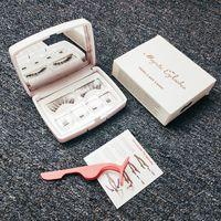 Eyelashes magnéticos vison invisível com pinças 3d cílios espessos tira completa falsa cílios 6 pcs / set 09