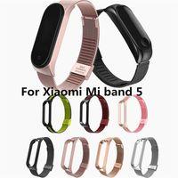 Xiaomi miband 5 Akıllı Bant Aksesuarları toptan 50pcs Yeni Metal Milanese Bilek Kayışı İçin Xiaomi Mi bandı 5 Bilezik kayış