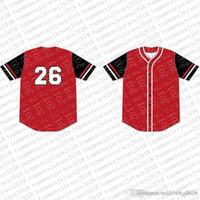 2020 أعلى مخصص البيسبول الفانيلة رجل التطريز الشعارات جيرسي شحن مجاني رخيصة بالجملة أي اسم أي عدد حجم M-XXL 84