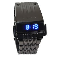 Irisshine Z720 men watches Clock  gift Men Stainless Steel Mens Blue LED Digital Sport Quartz Wrist Watch