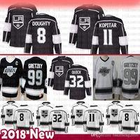 Hommes pas chers Los Angeles 8 Drew Doughty Hockey Jerseys 32 Jonathan Quick 11 Anze Kopitar 99 Wayne Gretzky Jersey