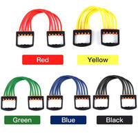 US Stock Free Shipping Portable Resistance Elastic Tube Band Inomhus Bröst Expander Puller Justerbar Yoga Pull Rope Exericy Fitness FY7054