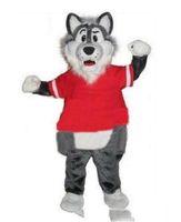 Descuento 2019 venta de fábrica adulto lanudo gris lobo mascotas trajes de la mascota envío gratis