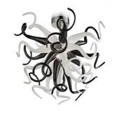 Vidro Candelabro Lâmpadas de Cristal Decor Art Branco Borosilicate preto e Antique Home Lighting Chihully Estilo Murano manchado