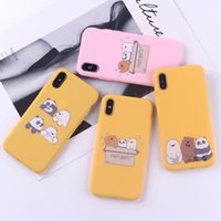 For Iphone 11 Pro Xs Max Xr We Bare Bears Phone Case 6 7 8 X...