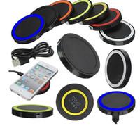 2019 Caricatore universale di ricarica Qi Qi caricabatterie wireless di ricarica per iPhone e Samsung S6