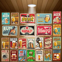 Blechschilder Route 66 Eis Bier Metallblechschilder Wein Whisky Rum Wand Poster für Pub Bar Brauerei Club Hotel Home Decoration