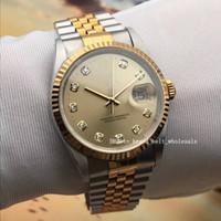 Mejor venta de alta calidad 2020 DateJust 36 Jubilee 126233 Champagne Gold Two-tone 36mm Watch Luxury Automatic Unisex Watch Envío gratis