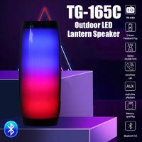 Mini TG165 portátil Bluetooth Speaker pequeno TG165C Stereo Subwoofer Luz LED Flash Wireless Outdoor Music Box Coluna TF de rádio FM