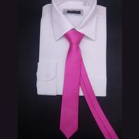 نحيف التعادل رجل الصلبة الجاكار المنسوجة مخطط ربطات العنق واضحة ونقي اللون الأسود الأخضر الوردي الأرجواني 6 سنتيمتر ضئيلة ضيق gravata في العديد من الألوان craverats corbatas gravatas