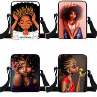 Afrika Afro Kızlar Fanny Paketi Karikatür Çantalar Gençler Crossbody Çanta Çocuklar Çocuk Öğrencileri Tek Omuz Messenger Çanta Spor Seyahat Tote D8505
