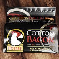 100% algodão orgânico O mais novo algodão Bacon 2.0 Prime Gold Versão para DIY RDA RBA Atomizers Aquecimento Coil Wire Ecig Vaporizadores