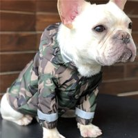 Pet Dog Cat Camouflage Raincoats Army Green Teddy Puppy Coat...