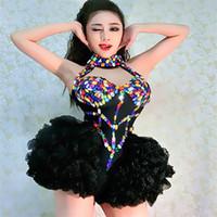Z01 Şarkıcı balo salonu dans kostümleri kadın bodysuit sahne performansı kıyafet giyer dj seksi elbiseler etek ds kulübü parti dj etek gösterisi giydirin