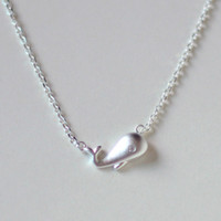 New Wal-Halskette S925 Silber Anhänger Nautical Schmuck für Frauen Bijoux PendantNecklace Art und Weise Hochzeits-Geschenk 12PCS / LOT