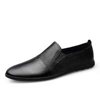الأزياء عارضة المتسكعون الرجال جلد طبيعي الرجال الأحذية عارضة الترفيه الشقق الذكور المتسكعون الأخفاف الحرائق الذكور القيادة الأحذية HC-623