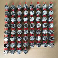 60 개 스타일 스테인리스 노즐 튤립 장미 꽃 모양 러시아어 노즐 퐁당 착빙 배관 팁 과자 튜브 케이크 장식 도구 DBC VT0441