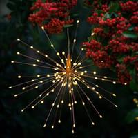 불꽃 태양 문자열 조명 200 LED 태양 램프 8 모드 LED 조명 원격 제어 장식 크리스마스 빛 파티 바 크리스마스 GGA2519