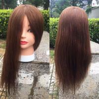İnsan saçı ile kukla kafaları eğitim kuaförlük bebek mankenler insan kafaları eğitim kadın peruk 100% bakire saç
