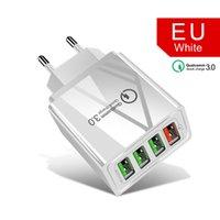 퀄컴 QC 3.0 충전기 4 개 개의 USB 포트의 6.2A 빠른 충전기 아이폰 삼성 빠른 어댑터 안드로이드 모든 스마트 폰 미국 EU 플러그를 충전