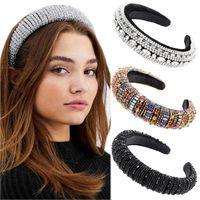 Kadınlar Rhinestone Bezel hairbands Headdress lüks zarif Başkanı Hoop Şapkalar Moda Bayan Saç Aksesuarları