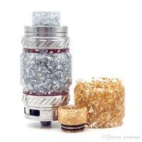 Nizza colorato resina epossidica Oro Argento tubo Cap Drip Tip Kit ad alta capacità per TFV81 TFV2 bambino Resa principe serbatoio vaporizzatore atomizzatore Hot Cake