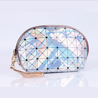 Fashion Laser Cosmetic Bag PU Leather Travel Functional Wate...