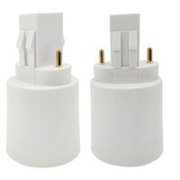Free Shipping GX23 Male to E27 E26 Female GX23-E27 Converter Lamp Adapter GX23 to E27 Adapter CE ROHS