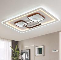 사각형 / 직사각형 현대 샹들리에 광택 Luster LED CEIING 램프 조명 거실 침실 PLAFON 램프 표면 장착 조명 LLFA