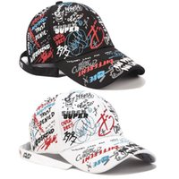 Hot White Doodle Baseball Hat Men and Women New Fashion Long...