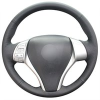 Schwarzes Kunstleder-Auto-Lenkradbezug für Nissan Teana / Altima / Tiida