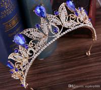 L'articolo sposa orna la modellazione di Europa e gli Stati Uniti foglie regina sposare barocche corona d'oro accessori abito da sposa