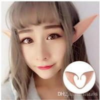 Orejas misteriosos Ángel Elf cosplay accesorios fiesta de Halloween Látex suave apuntado protésica extremidades falsas orejas 30pcs / lot G801