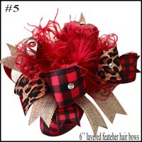 free shipping 4pcs Plaid bows christmas Hair Bows With Clips plaid Kids Girls Princess Handmade Boutique