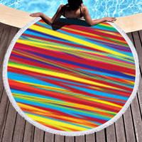 Round Serviette de plage Tapis de yoga Couverture Polyester Imprimer Leopard Tablecloth Shawl Wrap Microfibre Serviette de bain Pique-nique Tapis Tapisserie VT1777