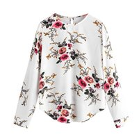 Women 2019 Autumn Floral Print Blouses Femininas Long Sleeve...