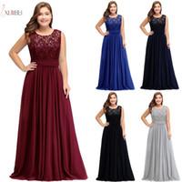 2019 Plus Size Lace Longo Prom Noite Vestido Barato Halter Prata A-Linha Vestido Formal Formal Bridesamid Vestidos em estoque CPS526