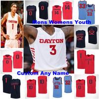 Dayton Flyers Jerseys Homens 0 Rodney Chatman Jersey 1 OBI Toppin 2 Ibi Watson 3 Landers NCAA Basketball Jerseys costurados