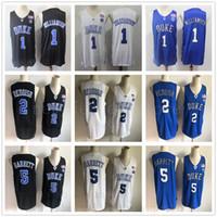 College Basketball Duke Blue Devils Jersey Nähed 1 Zion Williamson 2 CAM REDISCHER 5 RJ Barrett Marvin Bagley III Jayson Tatum Ingram Allen