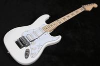 مخصص ريتشي سامبورا توقيع الأبيض ST الغيتار الكهربائي فلويد روز اهتزاز المطرقة وقفل الجوز، نجم ترصيع، SSH بيك اب
