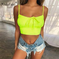wholesale Strappy Short Neon Tops Women Summer Cropped Top P...