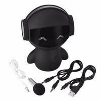 Nettes Roboter-TV Karaoke Bluetooth Lautsprecher M10 HIFI-Smart-Roboter Super Bass bewegliche drahtlose Stereo-Lautsprecher für Energien-Bank-Karaoke