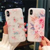 Flower Silicon Phone Case For iPhone 7 8 Plus XS Max XR Rose...