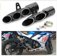 دراجة نارية العادم الخمار من ألياف الكربون مزدوج أسفل الانزلاق على الهروب العادم الدراجات النارية و الدراجات لR6 Z900 ZX6R cbr500r gsxr1000r