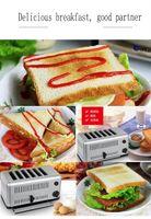 Alta Qualidade Comercial automática cheia 4 fatia torradeira 6 Slices Toaster Pão Toast máquina para o pequeno almoço