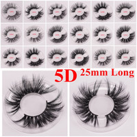 Cils de vison longs dramatiques 3D cils de vison 5D 25mm Cils de visons épais longs faits main maquillage des yeux faux cils Maquiagem série LD 15 styles