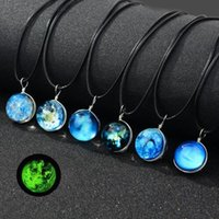 7pcs New Handmade Double Sided Glass Ball Noctilucent Pendan...